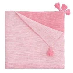 Elegant Baby -  Knit Blanket - Ombre Pink