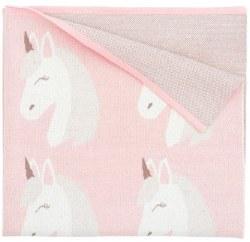 Elegant Baby - Pattern Blanket - Unicorn Pink