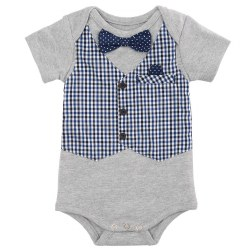 Elegant Baby - My First Formal Onesie Boy 6-9