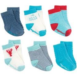 Elegant Baby -  6-Pack Socks - Nautical Boy