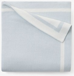 Elegant Baby - Knit Blanket Tuxedo Stripe - Cloud Blue
