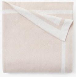 Elegant Baby - Knit Blanket Tuxedo Stripe - Blush Pink