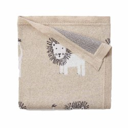 Elegant Baby -  Knit Blanket - Lion