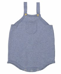 N L - Knit Overalls - Heather Blue 3M