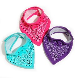 FCTRY - Bandana Bibs - Pink/Purple/Green