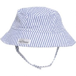 Flap Happy - UPF 50+ Crusher Hat with Neck Strap - Chambray  Small