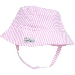 Flap Happy - UPF 50+ Crusher Hat with Neck Strap - Pink Small