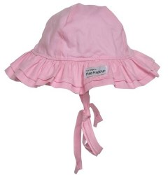 Flap Happy - UPF 50+ Double Ruffle Hat - Pink X-Small
