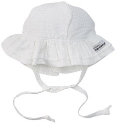 Flap Happy - UPF 50+ Double Ruffle Hat - Vanilla  X-Small
