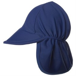 Flap Happy - UPF 50+ Swim Flap Hat - Navy Small