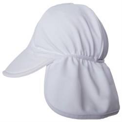Flap Happy - UPF 50+ Swim Flap Hat - White Small