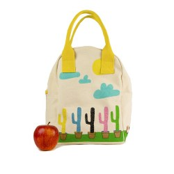 Fluf Textiles - Zipper Lunch Bag - Cactus