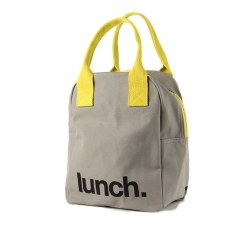 Fluf Textiles - Zipper Lunch Bag - Grey Lunch
