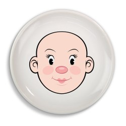 Fred & Friends - Food Face Plate Girl