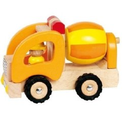 Goki - Wooden Vehicle - Cement Mixer