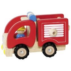 Goki - Wooden Vehicle - Fire Truck
