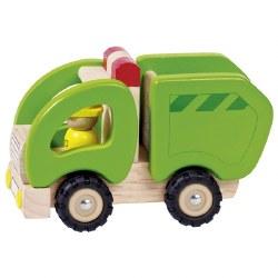 Goki - Wooden Vehicle - Garbage Truck
