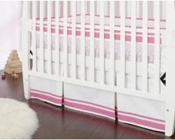 Just Born -  Crib Skirt -  Safe Sleep Pink
