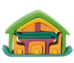 Gluckskafer - All-In-One Stacking House - Green