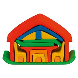 Gluckskafer - All-In-One Stacking House - Red