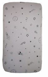 Gootoosh - Bassinet Sheet - Stars Grey