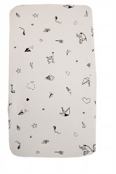 Gootoosh - Bassinet Sheet - Origami White