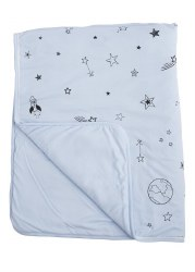 Gootoosh - Crib Blanket - Stars Blue