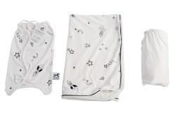 Gootoosh - Crib Bedding Set - Stars White