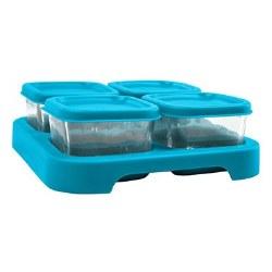 Green Sprouts -  Glass 2oz Cubes Aqua