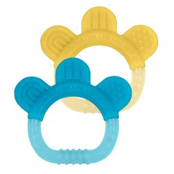 Green Sprouts -  Paw Teether Aqua/Yellow