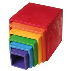 Grimm's - Authentic Large Stacking Boxes Rnbw
