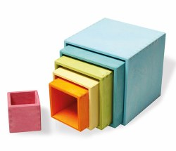 Grimm's - Authentic Large Stacking Boxes Pastel