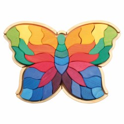Grimm's - Authentic Puzzle Butterfly - Rainbow