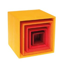 Grimm's - Authentic Small Stacking Boxes - Yellow