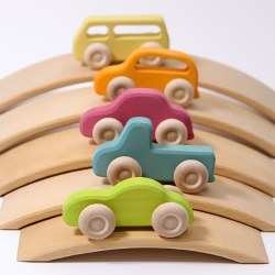 Grimm's - Authentic Wooden Cars Slimline *Pre-Order for End of June 2020*