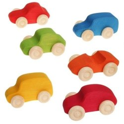Grimm's - Authentic Colored Wooden Cars *Pre-Order for End of June 2020*