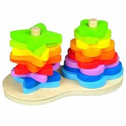 Hape - Double Rainbow Stacker