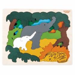 Hape - Asian Animals Puzzle