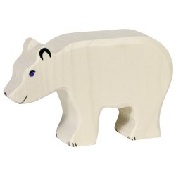 Holztiger - Wooden Animal - Polar Bear Feeding