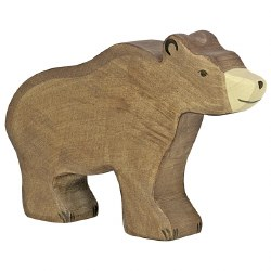 Holztiger - Wooden Animal - Brown Bear