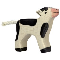Holztiger - Wooden Animal - Calf Black