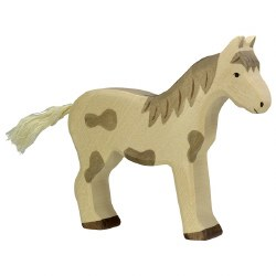 Holztiger - Wooden Animal - Horse Standing