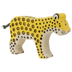Holztiger - Wooden Animal - Leopard