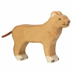Holztiger - Wooden Animal - Lioness