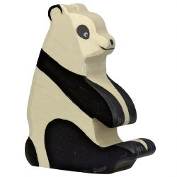 Holztiger - Wooden Animal - Panda Seating