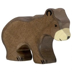 Holztiger - Wooden Animal - Small Brown Bear