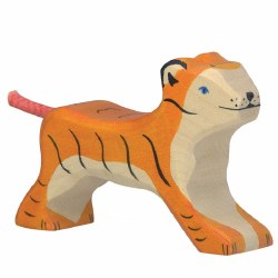Holztiger - Wooden Animal - Small Running Tiger