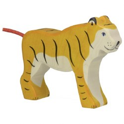 Holztiger - Wooden Animal - Standing Tiger