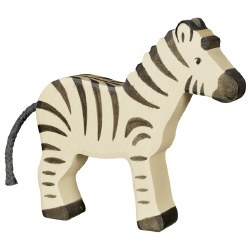Holztiger - Wooden Animal - Zebra