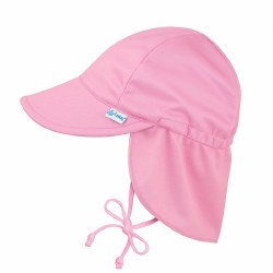 I Play -  Breathable Swin and Sun Flap Hat - Light Pink 0-6